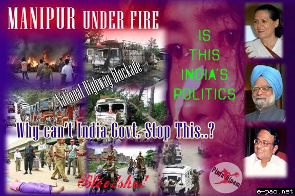 Manipur under Fire ... collage