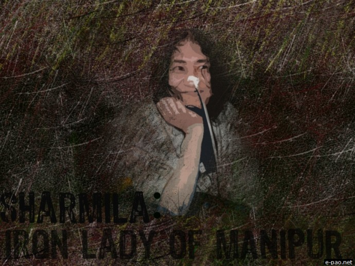 Irom Sharmila - Iron lady of Manipur :: Art work by Will Sandham