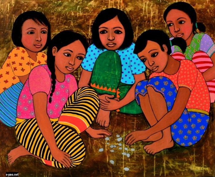 Childhood  :: An artwork from Laishram Meena