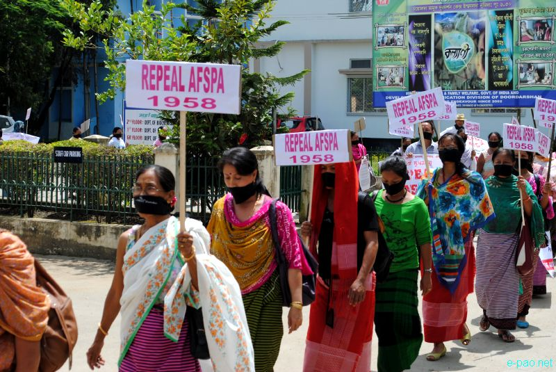 Peace Rally at Imphal observing the signing of AFSPA in 1958 :: 11 September 2011