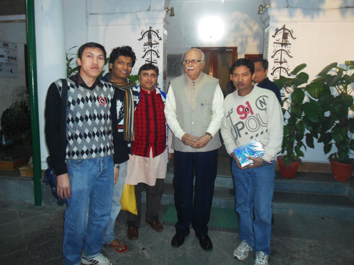 SDRAG presented a campaign T-Shirt Mr. L.K Advania New Delh on December 17 2011