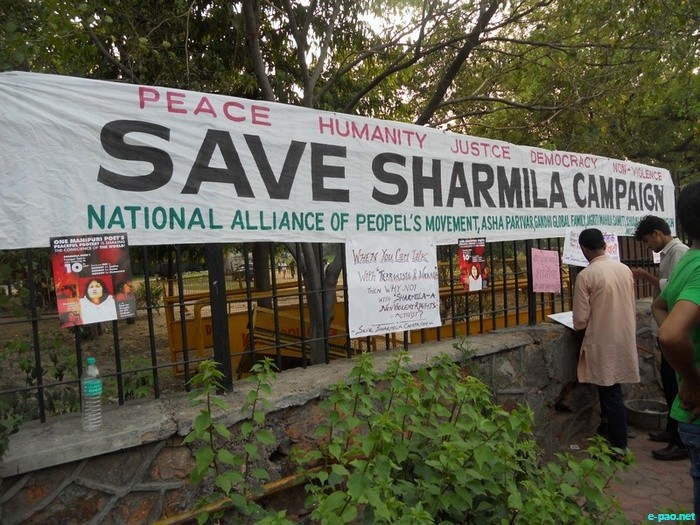 Save Sharmila Campaign at Rajghat, New Delhi :: June 25 2011