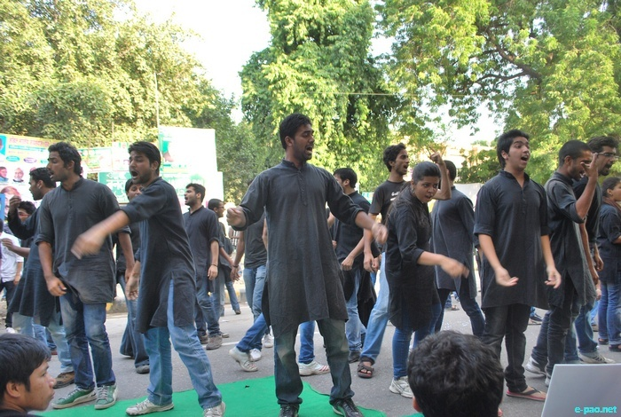 Peaceful March to Repeal the Armed Forces (Special Powers) Act 1958, at New Delh on Oct 2 2011