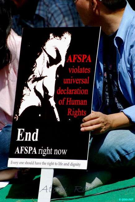 Peaceful March for Save Democracy - Repeal AFSPA at New Delhi :: 2 October, 2011