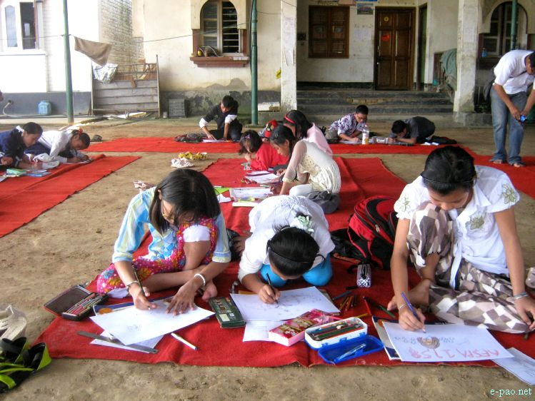 Painting Competition at Festival of Hope, Peace and Justice for Irom Sharmila  :: 2011