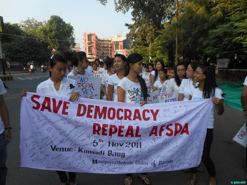 Various pictures of Campaign against AFSPA :: 2011-2012