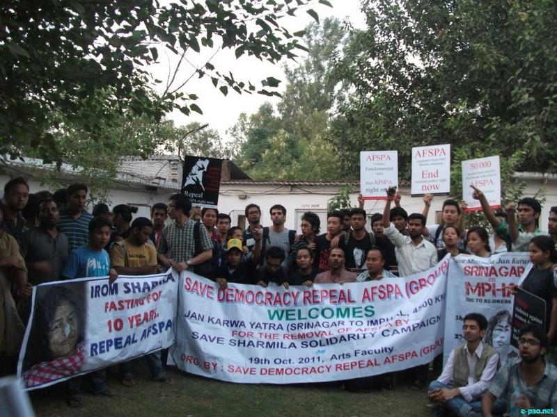 On 19 November, 2011 at Morish Nagar Police station, Delhi University