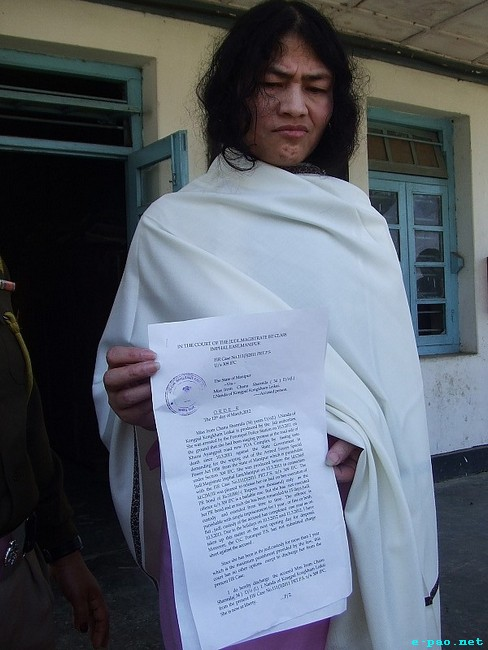 Irom Sharmila Chanu released and re-arrested :: March 12 and March 13, 2012