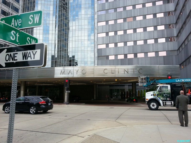 The downtown campus of Mayo Clinic, Rochester, Minnesota