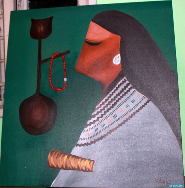 A painting from the workshop held by the State Kala Akademi, Manipur  :: 18th - 22nd October 2011