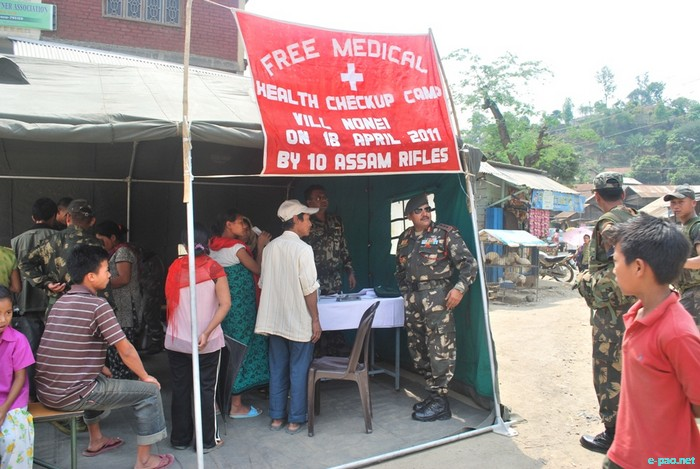 Free Medical check up in Longmei bazaar at Nonei by AR :: April 18 2011