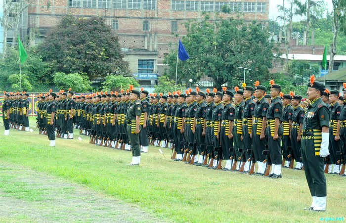 Manipur Police Raising Day Parade at 1st Bn on October 19 2011