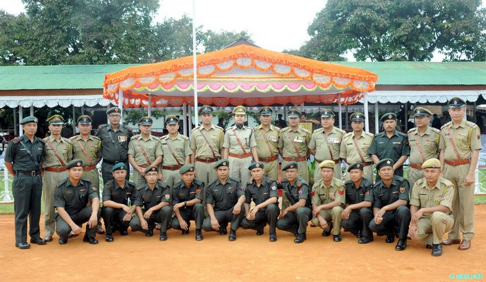 Manipur Police Raising Day Parade at 1st Bn Manipur Rifles Parade ground