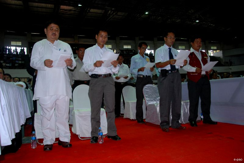 Oath Taking ceremony of elected members of 6th Autonomous District Councils :: June 2010