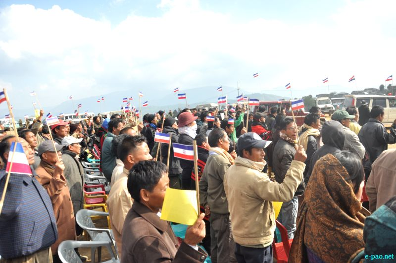 An election campaign in Manipur's Hill districts in January 21, 2012