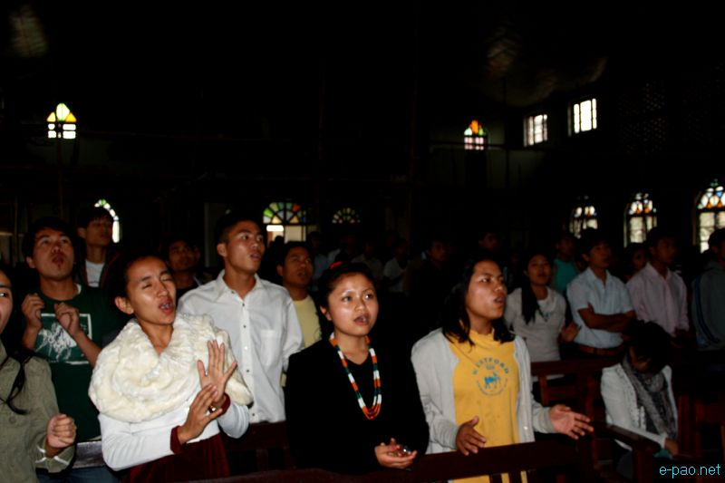 Easter Sunday at MBC Church, Chingmeirong, Imphal :: April 8 2012