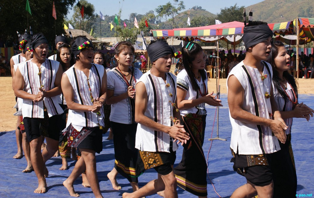 Cultural Programmes at Chandel District level Kut festival at Molnoi Khului Ground, Chandel on 01 November 2012