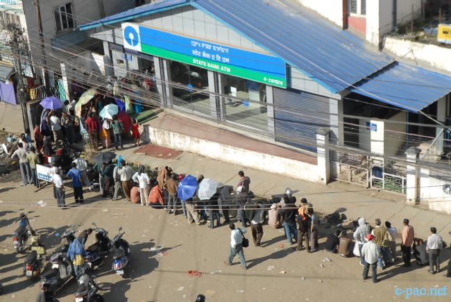 ATM  line during Ningol Chakkouba at Imphal in 2010