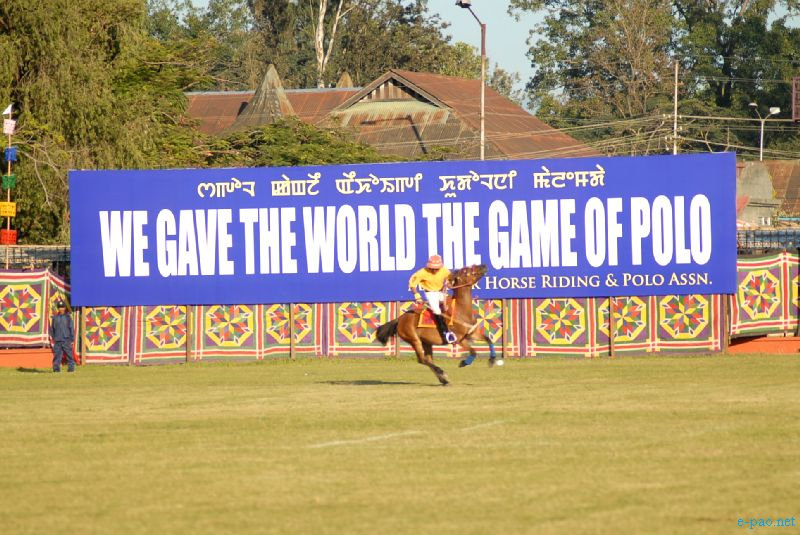 A game of Polo at Mapal Kangjeibung, at Manipur Sangai Festival 2012