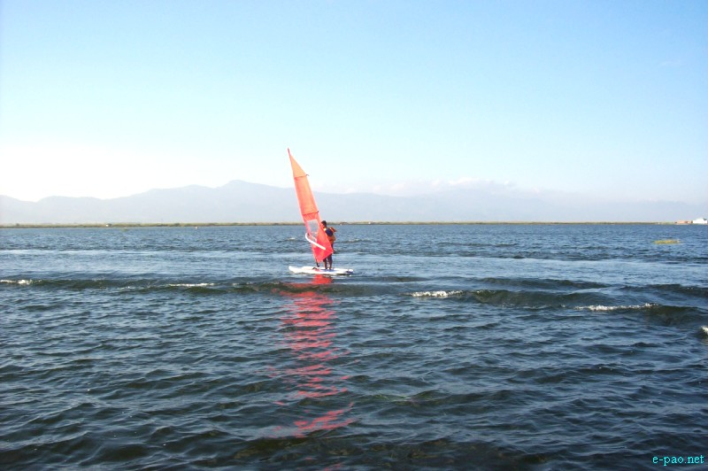 Water Sports at Loktak Lake, Moirang during Manipur Sangai Tourism Festival 2012 by MMTA :: November 2012