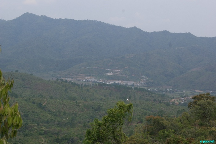 A view of Sajik Tampak in Chandel District in May 2011