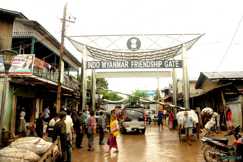 Indo-Myanmar Friendship Gate at Moreh, a border town between India and Myanmar :: 23 August 20
