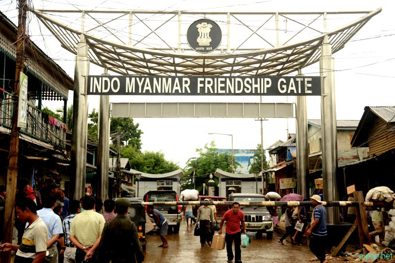 Indo-Myanmar Friendship Gate at Moreh, a border town between India and Myanmar :: 23 August 2012