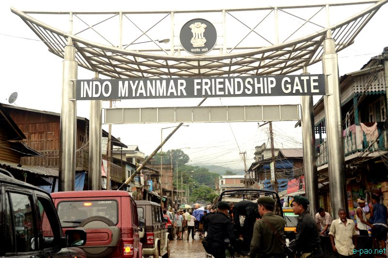 Indo Myanmar Friendship Gate At Moreh   A Border Town Between India