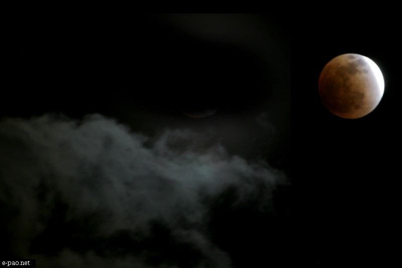 The moon as seen in Imphal on December 10, 2011