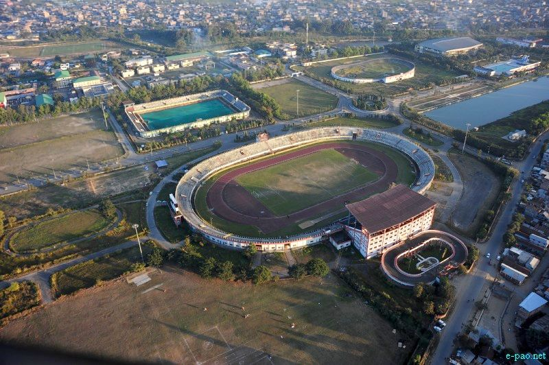 Aerial view of Imphal City during Manipur Sangai Tourism Festival 2012 :: November 2012