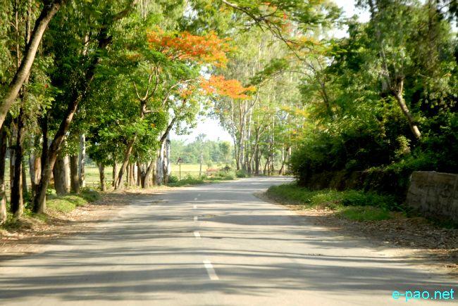 Tiddim road towards Bishenpur  in 2011