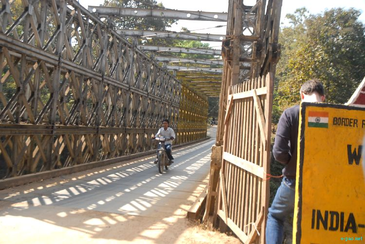 A bridge at Moreh at Indo Myanmar Friendship road in January 2012