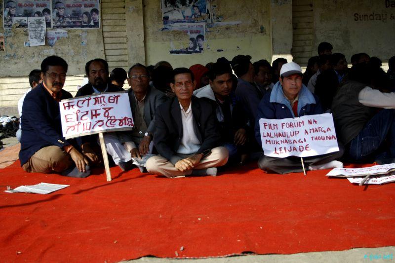 Film Forum Manipur Protest against Monetary Demands  ::  1st  February 2012