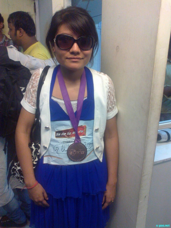 T  Mandakini (Singer), securing top position in All North East India  competition of Sa Re Ga Ma Pa :: September 2012