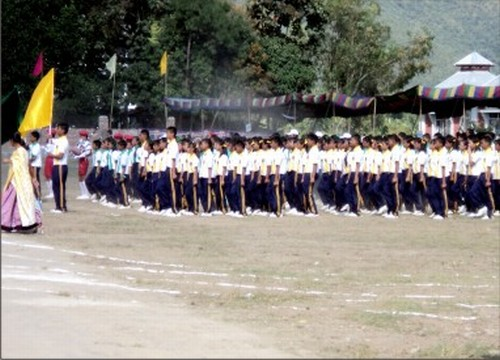 Students of Maria Montessori on the opening day of the Silver Jubilee in Nov 2010