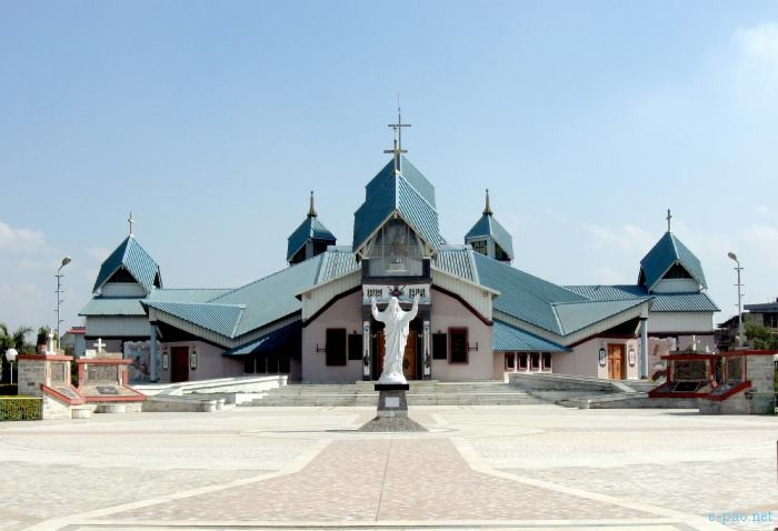St. Joseph's Cathedral Church located at Mantripukhri, Imphal