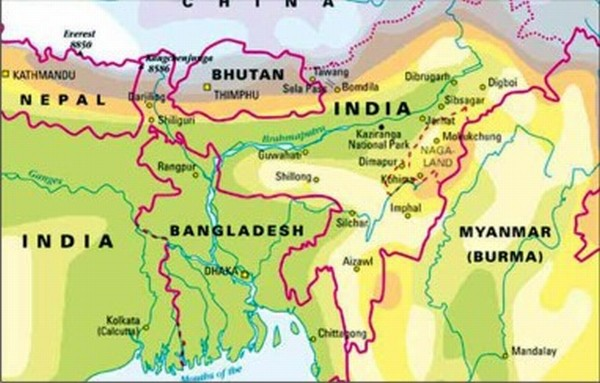 Ethics of ethnic crisis in north east india part 1 by priyadarshni map of north east region india gumiabroncs Image collections