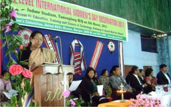 International Women's Day observation organised by United NGOs Mission, Manipur at Tamenglong in 2011