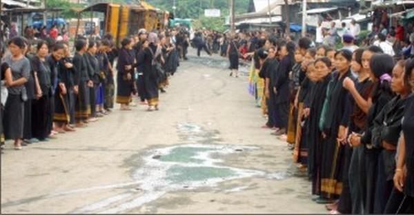 Kangpokpi bazar on Independence Day