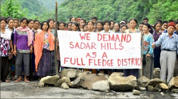 Womenfolk enforcing the Sadar Hills blockade