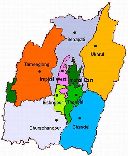 Manipur District Map