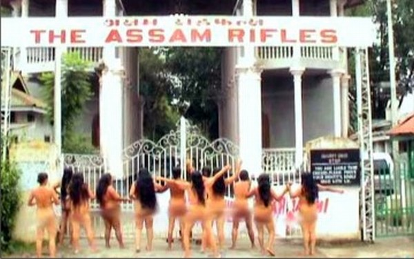 The nude protest against AFSPA in 2004 which has become part of folklore