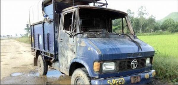 The vehicle set ablaze on September 25
