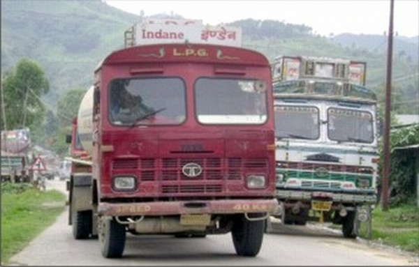 A bullet tanker truck heads for Imphal-File