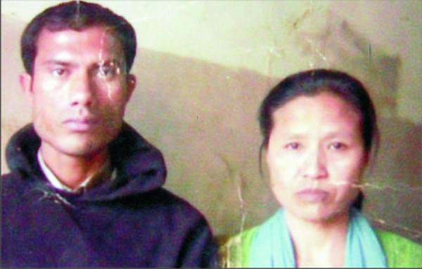 Abdul Rahman with his wife