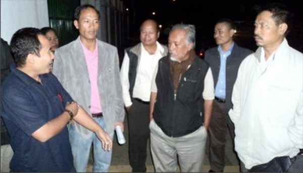 Members of SHDDC and other civil society organisations arrive to meet the CM last night (Oct 23)