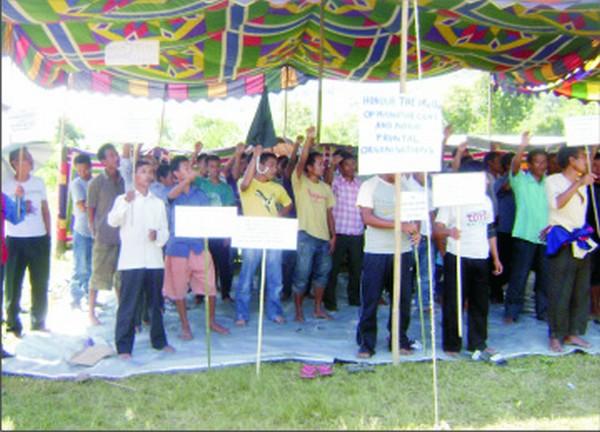 Anti-Sadar Hills district dharna