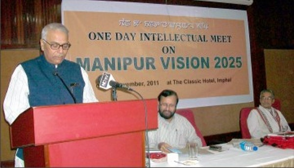 Former Finance Minister Yashwant Sinha addressing the Intellectual Meet on Vision 2025