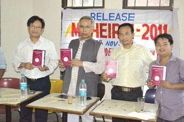MP Dr T Meinya Monday releasing the annual magazine of Manipur Students' Association Delhi (MSAD) titled 'Maheiroi 2011'