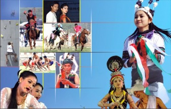 A brochure for the Sangai Festival